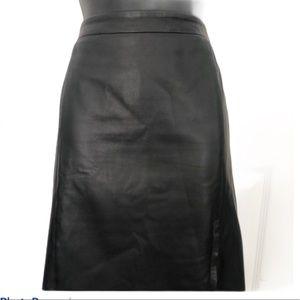 DKNYC Lambskin Skirt